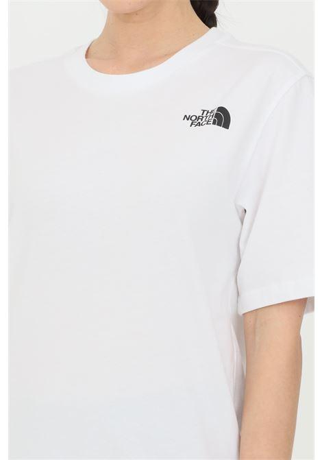 T-shirt simple basic donna bianco the north face a manica corta con logo sul retro THE NORTH FACE   T-shirt   NF0A4M5QLA91LA91