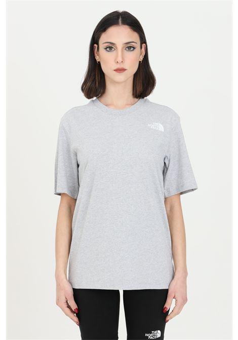 T-shirt simple basic donna grigio the north face a manica corta con logo sul retro THE NORTH FACE | T-shirt | NF0A4M5QMRD1MRD1
