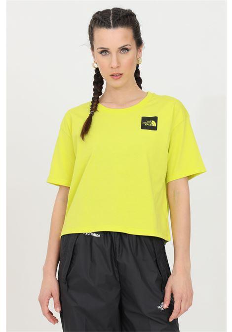 T-shirt fine boyfriends donna giallo the north face a manica corta, logo frontale THE NORTH FACE   T-shirt   NF0A4SY9JE31JE31