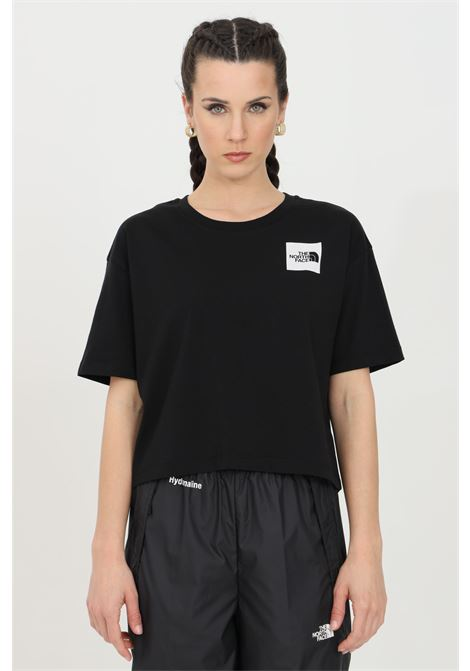 Black fine boyfriends t-shirt with front logo, short sleeve. The north face THE NORTH FACE | T-shirt | NF0A4SY9JK31JK31