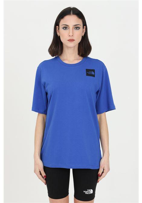 Blue fine boyfriends t-shirt with front logo, short sleeve. The north face THE NORTH FACE | T-shirt | NF0A4SYACZ61CZ61