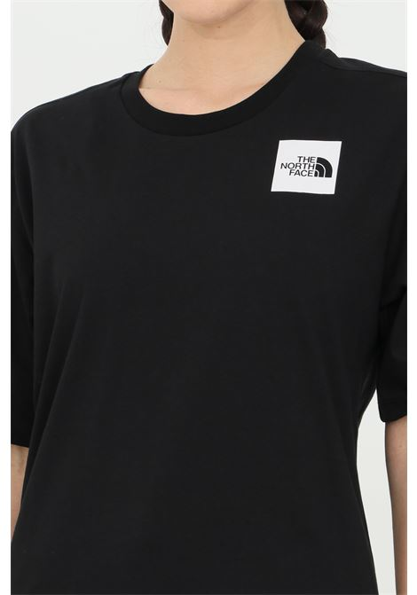 Black fine boyfriends t-shirt with front logo, short sleeve. The north face THE NORTH FACE | T-shirt | NF0A4SYAJK31JK31