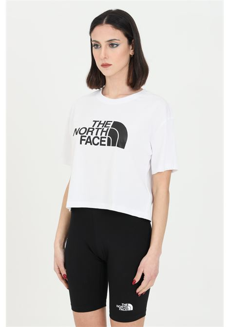 T-shirt donna bianco the north face a manica corta con logo frontale a contrasto THE NORTH FACE | T-shirt | NF0A4T1RFN41FN41
