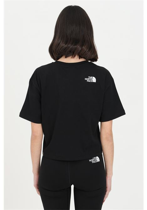 T-shirt donna nero the north face a manica corta con logo frontale a contrasto THE NORTH FACE | T-shirt | NF0A4T1RJK31JK31