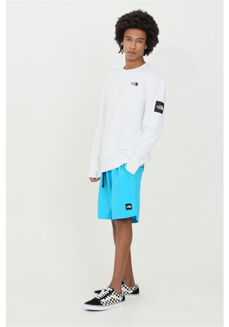 Light blue black box shorts with bel at the waist and side pockets. The north face THE NORTH FACE   Shorts   NF0A4T21D7R1D7R1