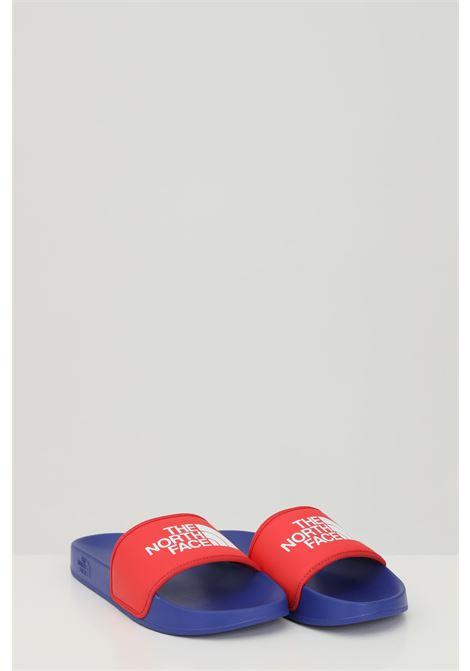 Ciabatte MEN'S BASE CAMP SLIDE III uomo blu-rosso the north face con logo a contrasto THE NORTH FACE | Ciabatte | NF0A4T2RZ451Z451