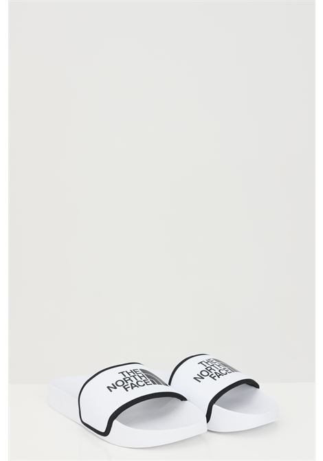 White WOMEN'S BASE CAMP SOLID III slippers in solid color with contrasting logo. The north face THE NORTH FACE | Slipper | NF0A4T2SLA91LA91