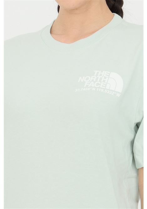 Green coordinates t-shirt with logo print on the back, short sleeve. Comfortable model. The north face  THE NORTH FACE | T-shirt | NF0A52Y8V391V391