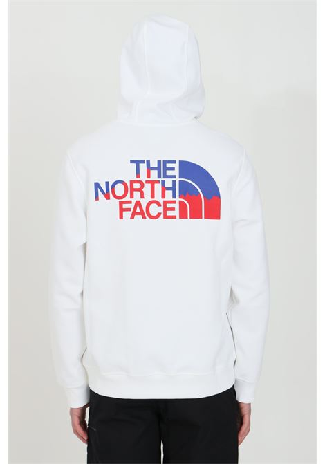 Felpa uomo bianco the north face con cappuccio e coulisse. Logo frontale. Tasca marsupio e fondo a costine elastico THE NORTH FACE | Felpe | NF0A5317FN41FN41
