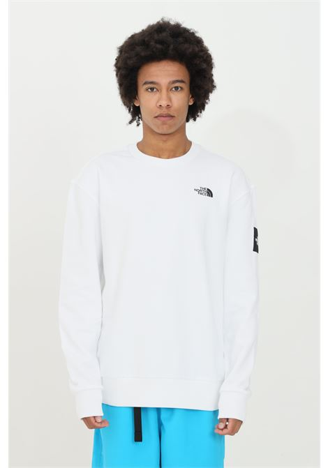 White sweatshirt with print on the back, small logo on the front, elastic cuffs and bottom with ribs. Over size model. The north face  THE NORTH FACE | Sweatshirt | NF0A557GFN41FN41