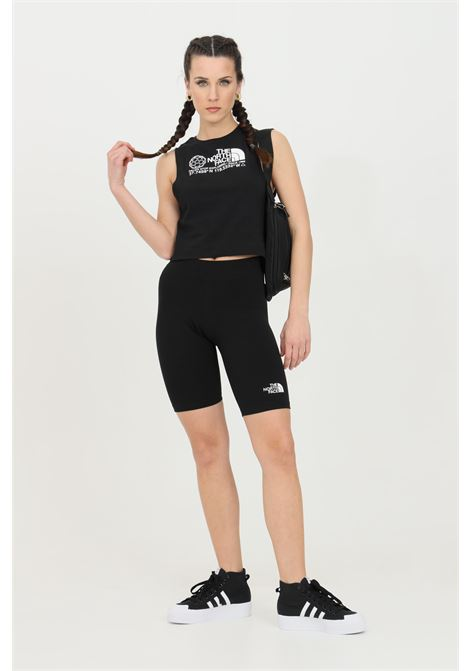 Shorts donna nero the north face sport in tinta unita con logo a contrasto THE NORTH FACE   Shorts   NF0A557ZJK31JK31