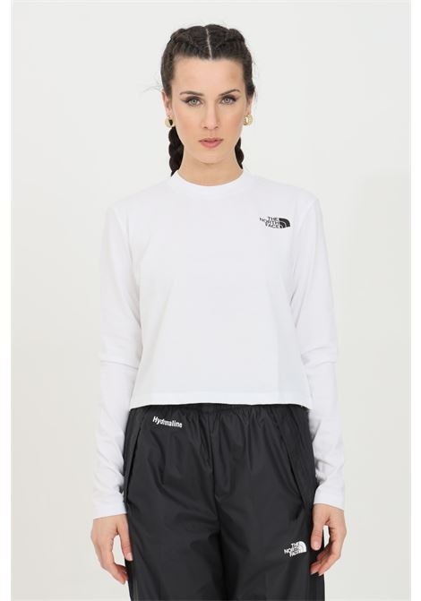 White fine boyfriends t-shirt with long sleeves and logo in contrast. The north face  THE NORTH FACE | T-shirt | NF0A5581FN41FN41