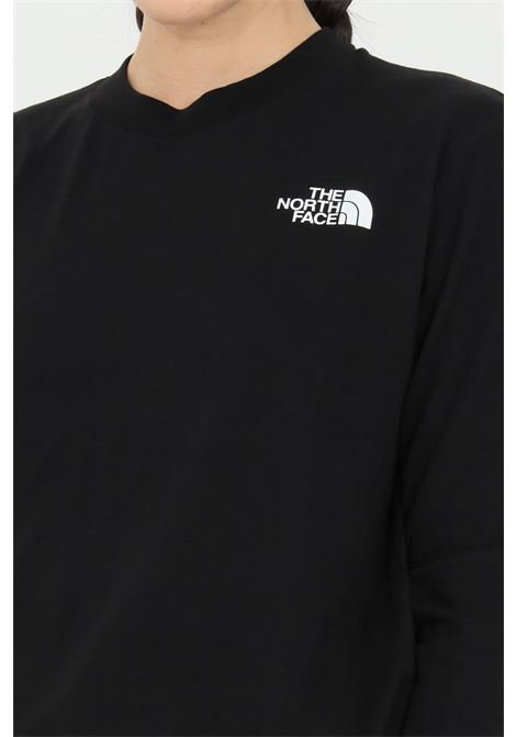 Black fine boyfriends t-shirt with long sleeves and logo in contrast. The north face  THE NORTH FACE | T-shirt | NF0A5581JK31JK31