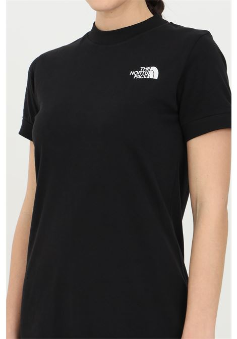 Black simple dress in solid color with contrasting logo, short model. The north face  THE NORTH FACE | Dress | NF0A5583JK31JK31