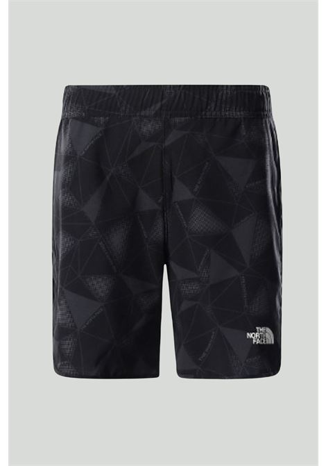 Shorts bambino nero the north face con fantasia militare ed elastico in vita THE NORTH FACE | Shorts | NF0A558K06510651