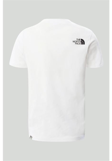 White t-shirt with front holographic print. Baby model. Brand: The north face THE NORTH FACE | T-shirt | NF0A5591FN41FN41