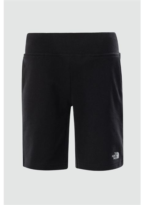 Shorts bambino/a nero The north face con molla in vita a costine e logo a contrasto THE NORTH FACE | Shorts | NF0A5595JK31JK31