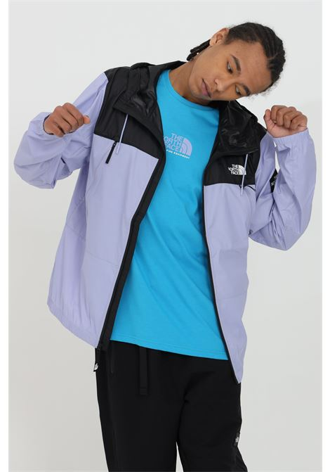 Lilac-black wind jacket with zip, side logo patch and hood. The north face THE NORTH FACE | Jacket | NF0A55BRW231W231