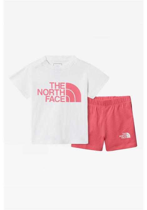 two-tone baby suit the north face with logo on the front