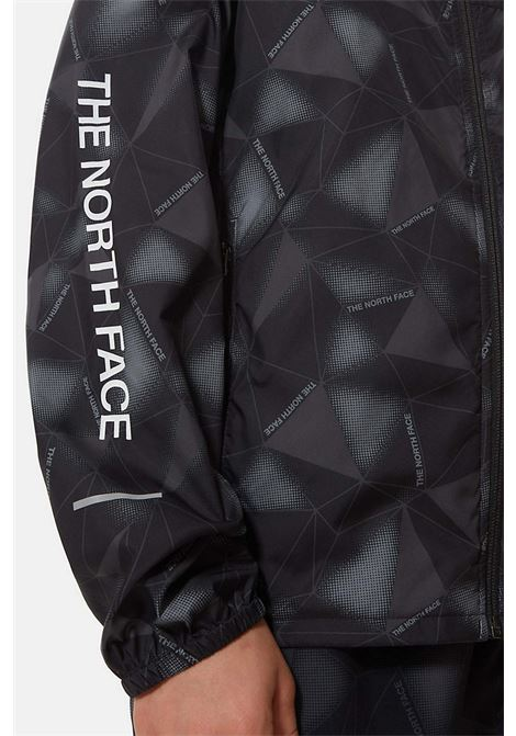 Boy's wind jacket black the north face with geometric print THE NORTH FACE | Jacket | NF0A55TS06510651