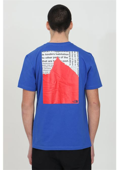 Blue K2RM t-shirt with maxi print on the back, ribbed crew neck and front print, short sleeve. The north face THE NORTH FACE | T-shirt | NF0A55ULEU91EU91