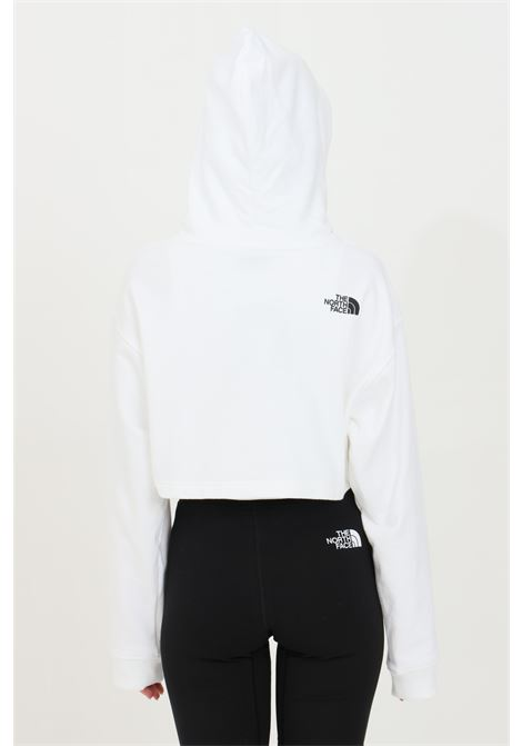 White coordinates hoodie in solid color with contrasting print on the front, short cut. The north face THE NORTH FACE | Sweatshirt | NF0A55UYFN41FN41