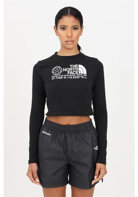 Black women's t-shirt short sleeve the north face  THE NORTH FACE | T-shirt | NF0A55UZJK31JK31