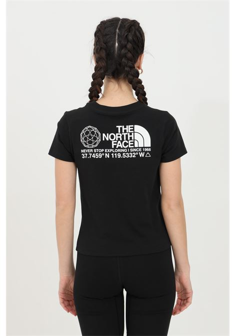 Black coordinates tee t-shirt with maxi print on the back and small printed logo on the front. The north face THE NORTH FACE | T-shirt | NF0A55V1JK31JK31