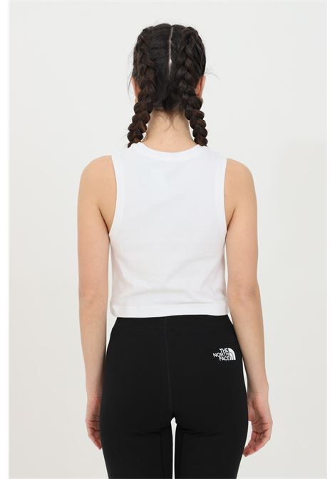 White t-shirt in solid color with contrasting logo on the front, short cut. Sleeveless. The north face  THE NORTH FACE | T-shirt | NF0A55V2FN41FN41