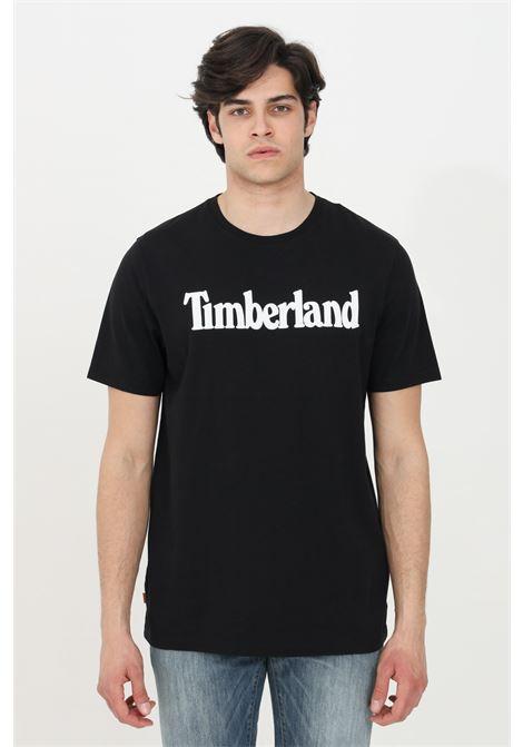 T-shirt kennebec river uomo nero timberland a manica corta modello basic in tinta unita con logo frontale a contrasto TIMBERLAND | T-shirt | TB0A2C3100110011