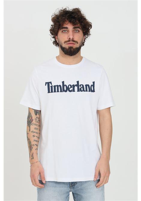 T-shirt kennebec river uomo bianco timberland a manica corta modello basic in tinta unita con logo frontale a contrasto TIMBERLAND | T-shirt | TB0A2C3110011001