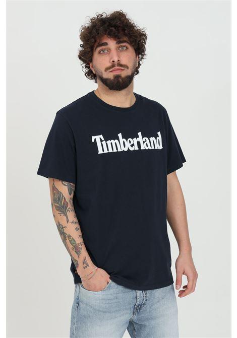 T-shirt kennebec river uomo blu timberland a manica corta modello basic in tinta unita con logo frontale a contrasto TIMBERLAND | T-shirt | TB0A2C3143314331