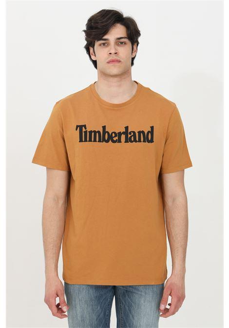 T-shirt kennebec river arancio timberland a manica corta modello basic in tinta unita con logo frontale a contrasto TIMBERLAND | T-shirt | TB0A2C31P471P471