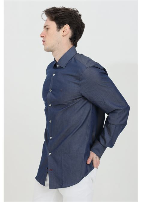 Slim fit shirt in solid color TOMMY HILFIGER | Shirt | MW0MW16489DW4