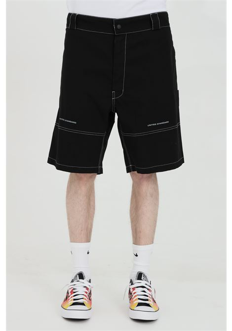 Plain shorts with contrasting stitching UNITED STANDARD | Shorts | USXMBR01FA01BLK001