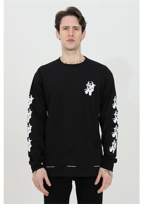 Crew neck sweatshirt with maxi print on the back UNITED STANDARD | Sweatshirt | USXMTS09JY09BLK001