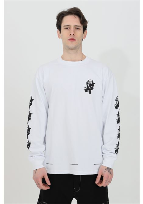 Crew neck sweatshirt with maxi print on the back UNITED STANDARD | Sweatshirt | USXMTS09JY09WHT001