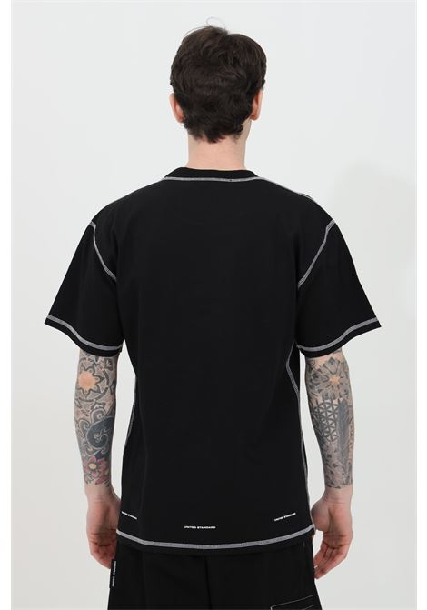 T-shirt with maxi front logo and contrasting finishes UNITED STANDARD | T-shirt | USXMTS13JY13BLK001