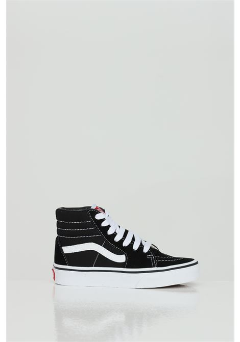 Black Sk8 Hi sneakers in solid color with contrasting bands, closure with laces. Baby model. Brand: Vans VANS | Sneakers | VN000D5F6BT16BT1
