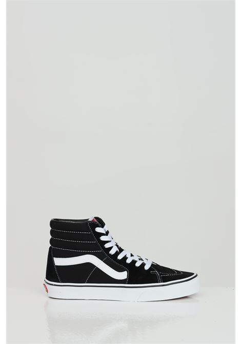 Black Sk8-Hi sneakers in solid color with contrasting logo, boot model, closure with laces. Vans  VANS | Sneakers | VN000D5IB8C1B8C1