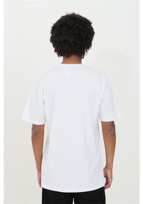 T-shirt Vans Classic uomo bianco vans a manica corta in tinta unita con maxi logo a contrasto frontale. Regular fit VANS | T-shirt | VN000GGGYB21YB21