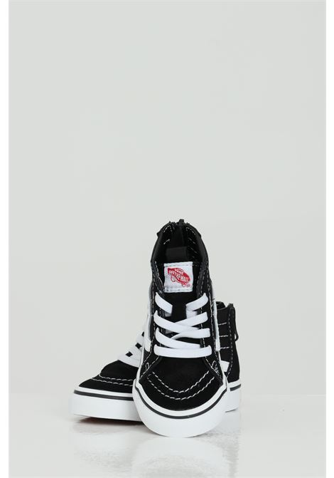 Black babyborn Sk8 Hi Zip sneakers with back zip and closure with laces. Rubber sole. Vans  VANS | Sneakers | VN000XG5Y281Y281