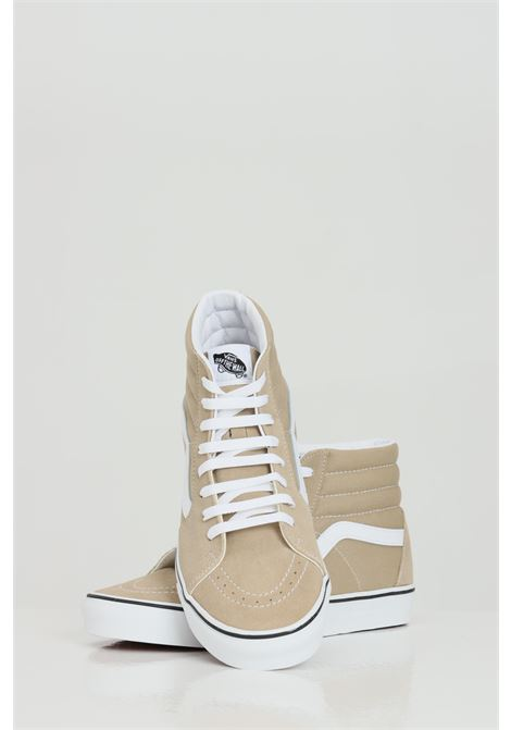 Beige unisex sk8-hi incense sneakers with contrasting side logo vans  VANS | Sneakers | VN0A32QG4G514G51