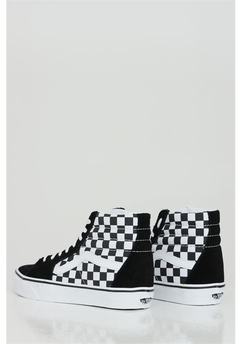 Black k8 Hi sneakers with damier print. Rubber sole and closure with laces. Vans  VANS | Sneakers | VN0A32QGHRK1HRK1