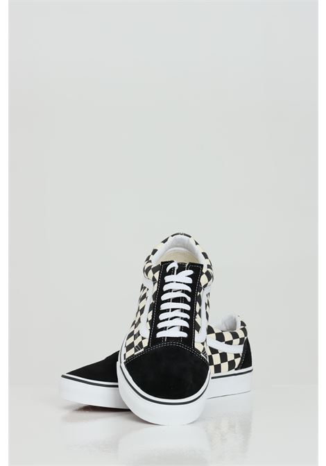 White-black old skool with damier print, closure with laces, rubber sole and round toe. Vans VANS | Sneakers | VN0A38G1P0S1P0S1