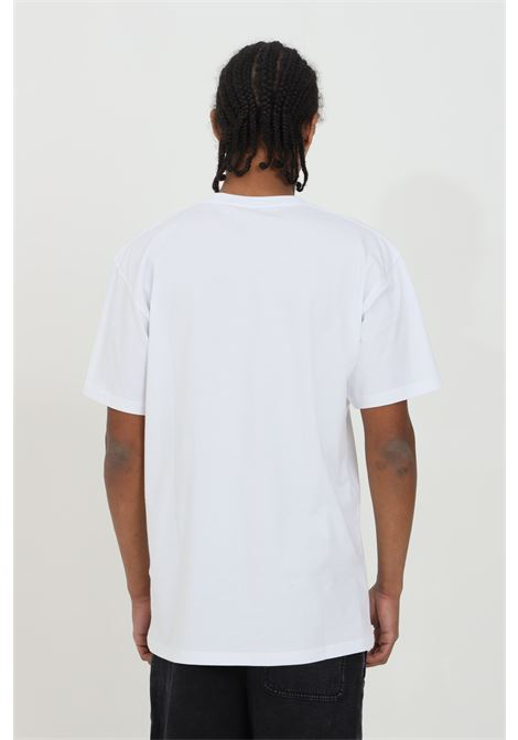 T-shirt uomo bianco vans a manica corta in cotone pesante con logo frontale a contrasto in dimensioni ridotte. Regular fit VANS | T-shirt | VN0A3CZEYB21YB21