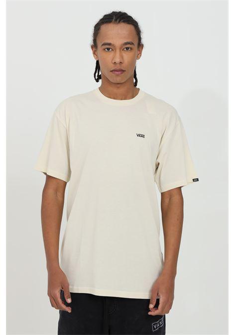 T-shirt uomo sabbia vans a manica corta in cotone pesante con logo frontale a contrasto in dimensioni ridotte. Regular fit VANS | T-shirt | VN0A3CZEZ5P1Z5P1