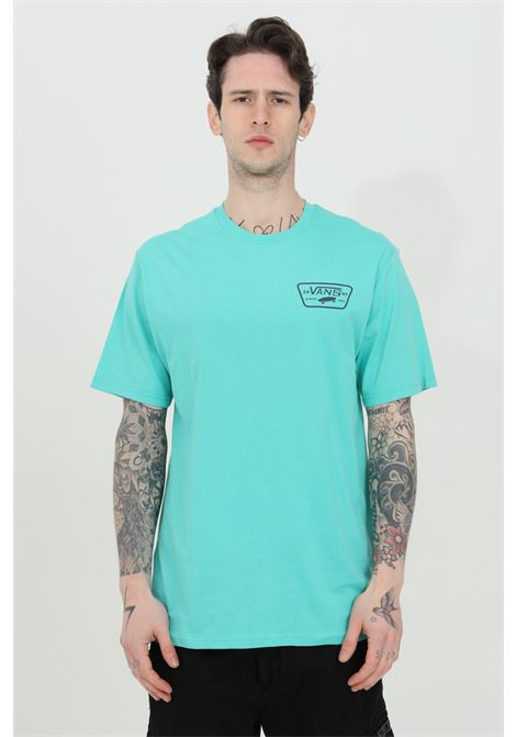Light blue Full Back Patch t-shirt with back print and logo on the front, short sleeve. Regular fit. Vans