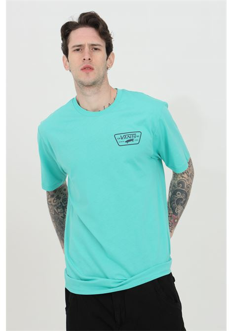 Light blue Full Back Patch t-shirt with back print and logo on the front, short sleeve. Regular fit. Vans VANS | T-shirt | VN0A3H5KZ5T1Z5T1