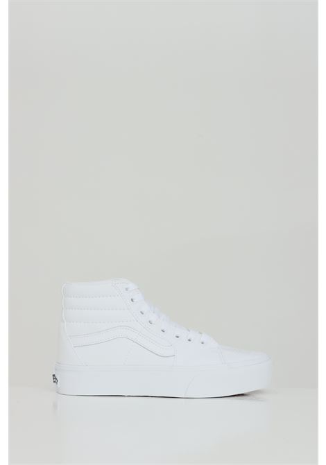 White Sk8-Hi Platform 2 sneakers with tone on tone logo, closure with laces. Boot model. Vans VANS | Sneakers | VN0A3TKNQLZ1QLZ1